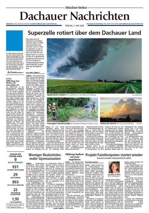 Dachauer Nachrichten Titelkopfanzeige Lokal