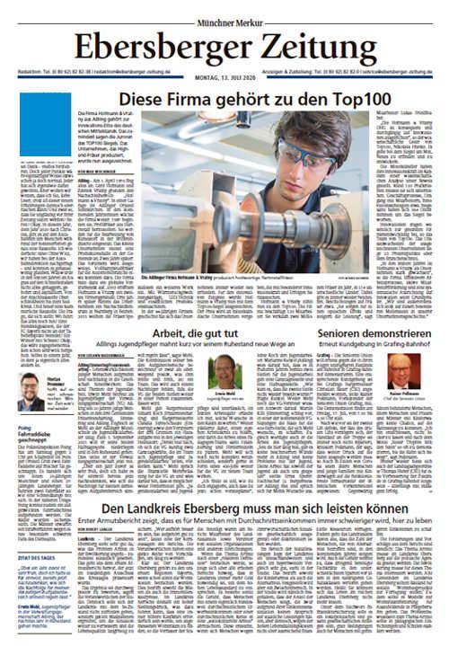 Ebersberger Zeitung Titelkopfanzeige Lokal