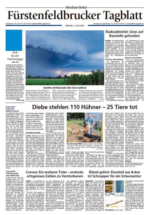 Fürstenfeldbrucker Tagblatt Titelkopfanzeige Lokal