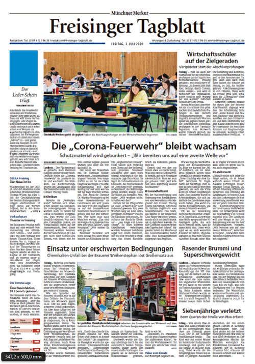Freisinger Tagblatt Titelkopfanzeige Lokal