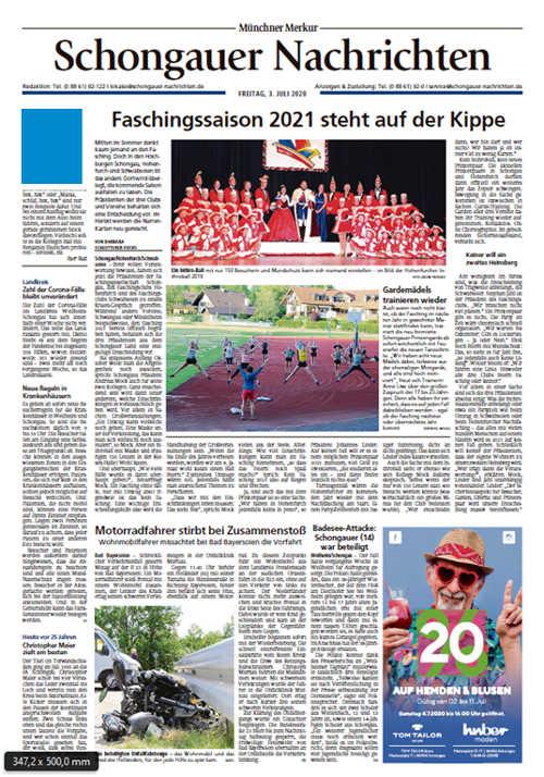 Schongauer Nachrichten Titelkopfanzeige Lokal