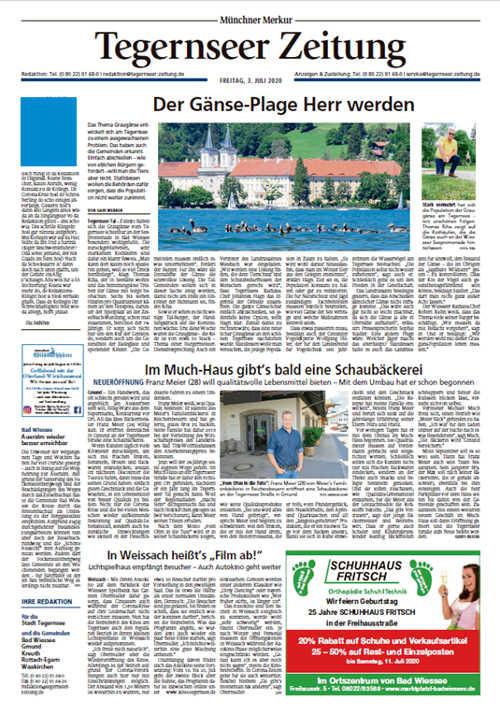 Tegernseer Zeitung Titelkopfanzeige Lokal