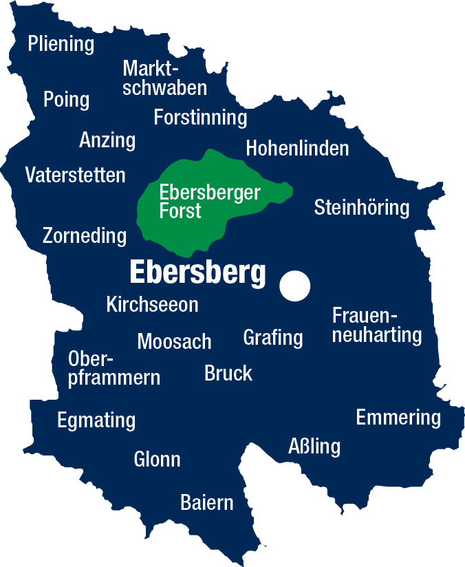 Landkreis Ebersberg Karte
