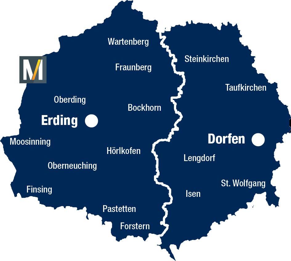 Landkreis Erding Karte