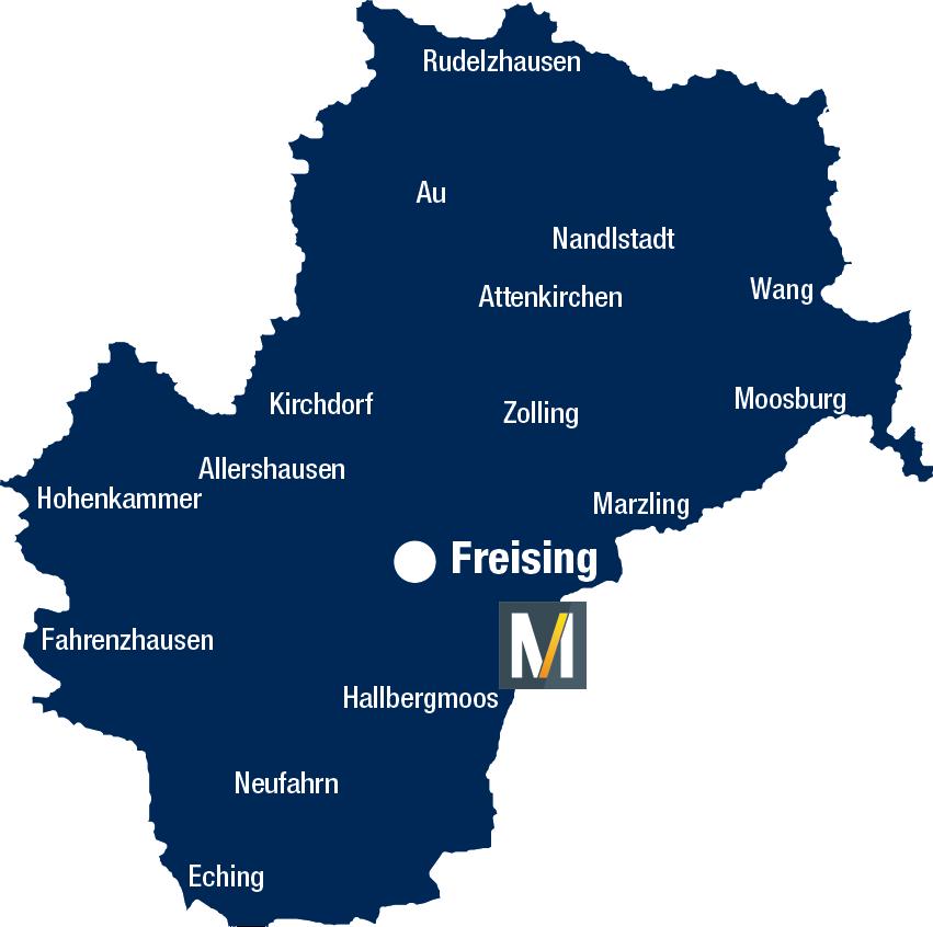 Landkreis Freising Karte