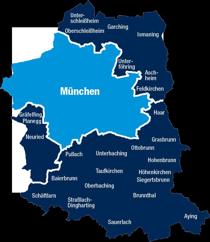 Landkreis München Karte