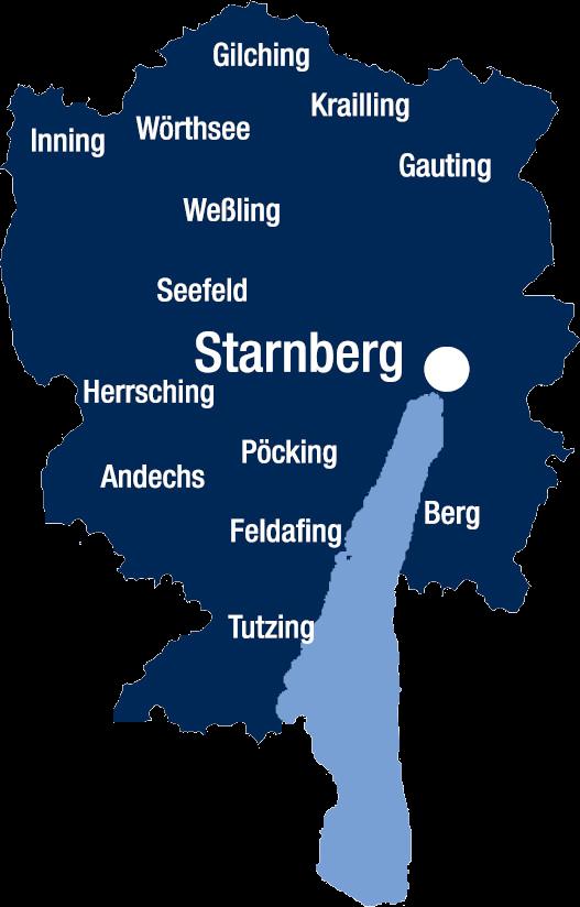 Landkreis Starnberg Karte